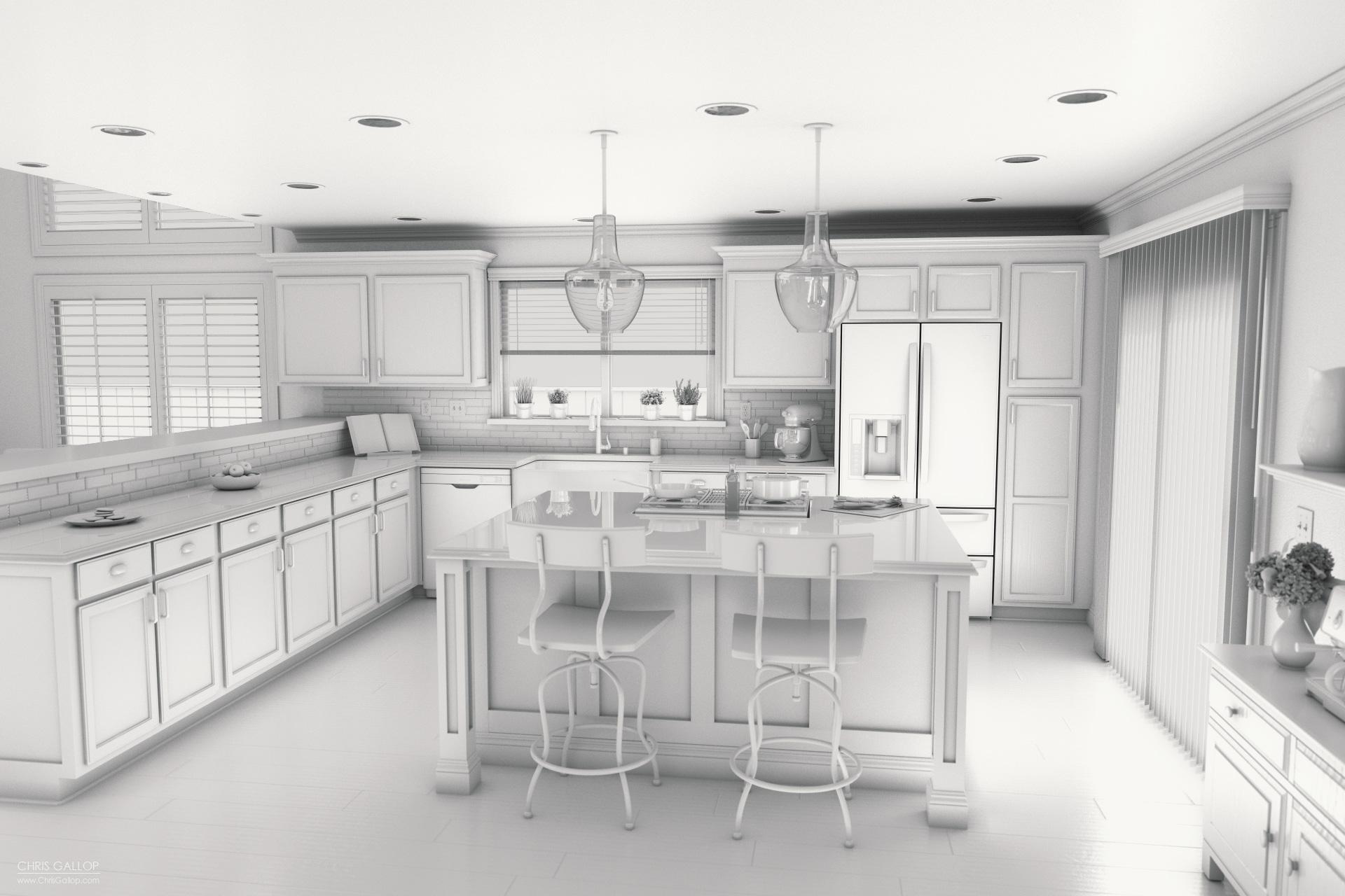 Kitchen Upgrade Kitchen Upgrade Chris Gallop 3d Artist